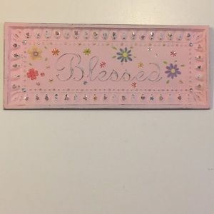 Other - Blessed Chic Metal sign pink with flowers Adorable